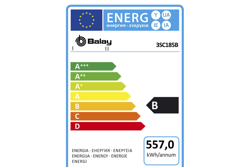 Etiqueta energía Balay