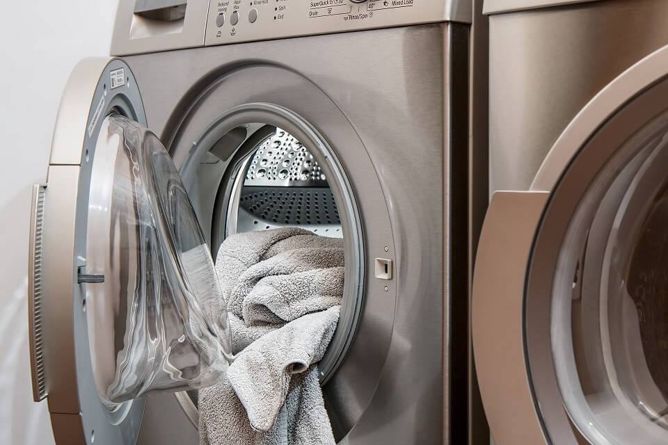 secadora lavadora plateada